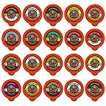 Crazy Cups Flavored Coffee Single Serve Cups for Keurig Brewer Variety Pack Sampler, 20 Count