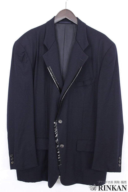 (コムデギャルソンオムプリュス) COMME des GARCONS HOMME PLUS 襟テーピング切り替えジャケット(M/ネイビー) 中古 B07FFW2Q2N  -