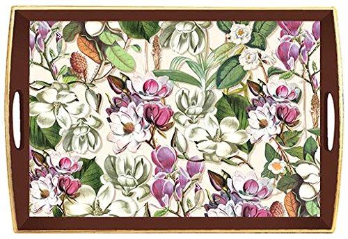 "Michel Design Works Wooden Decoupage Tray, 20"" x 13.75"", ..."