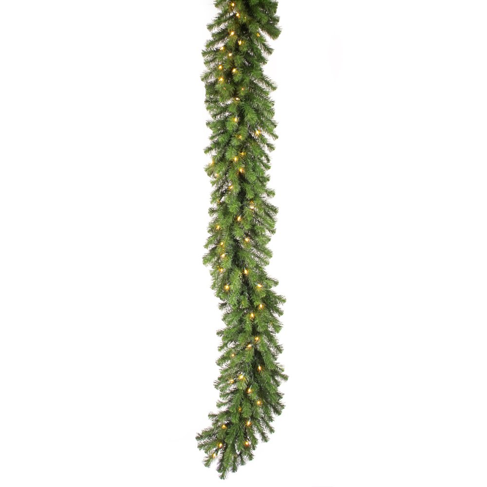 Vickerman Douglas Garland with Dura-Lit 400 Clear Lights, 50-Feet by 14-Inch