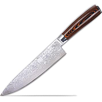 8u0026quot; Professional Handmade Damascus Chef Knife, Japanese High Carbon  Stainless Steel VG10 Kitchen Knives