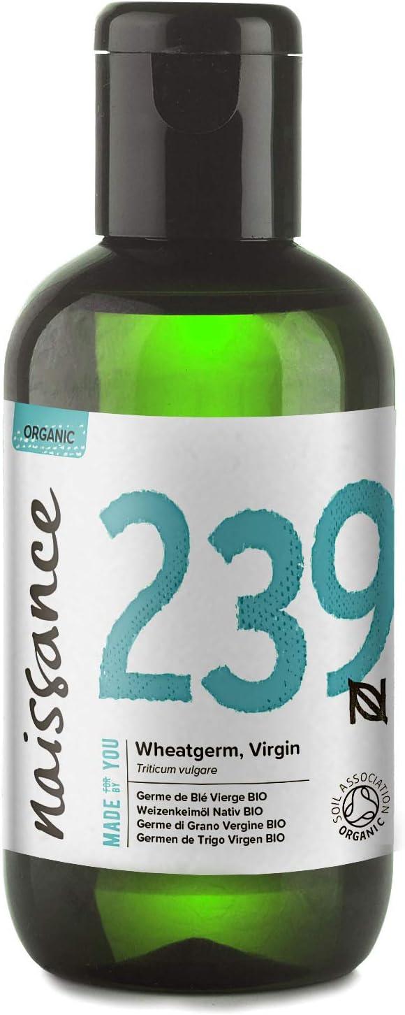 Naissance Aceite Vegetal de Germen de Trigo BIO 100ml - 100% puro, prensado en frío, certificado ecológico, vegano y no OGM