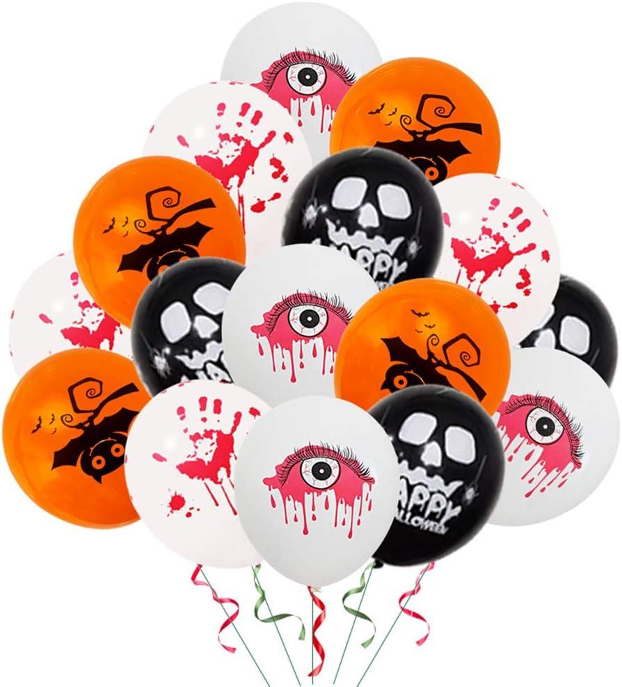 Ymgot ハロウィン 風船 50個 血の手 ドクロ 目玉 コウモリ バルーンセット 万聖節 パーティー 飾り付け デコレーション …