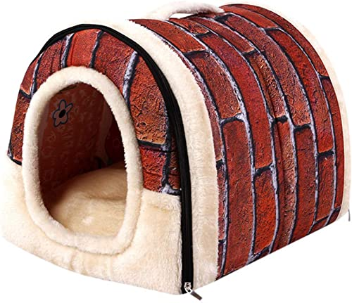 Gessppo Fluffy Plush Pet Dog Cat Bed Cat Dog House Winter Warm Soft Mat Bedding Basket Kennel Dog Hole Removable and Washable Snug Pet Cat Dog Carrying Nest