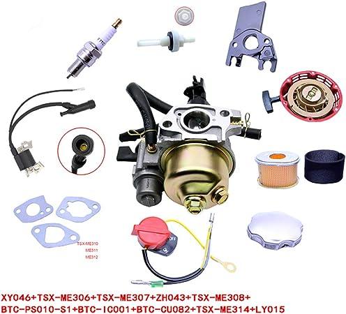For Honda GX160 GX200 Carburetor Recoil Ignition Coil Spark Plug Air Filter  !