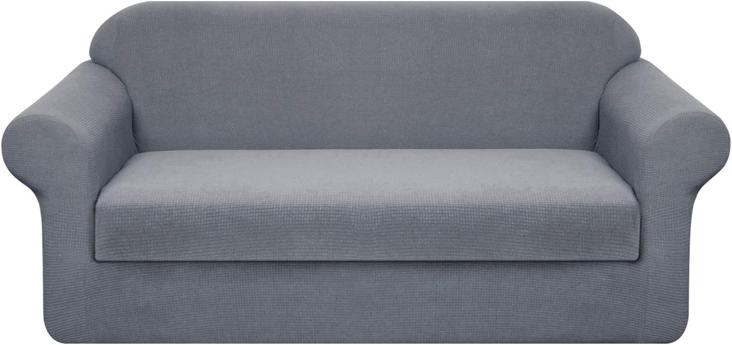 Granbest Stretch Sofa Slipcovers 3 Cushion Couch Covers Water-Repellent Pet Furniture Covers Dog Couch Protectors