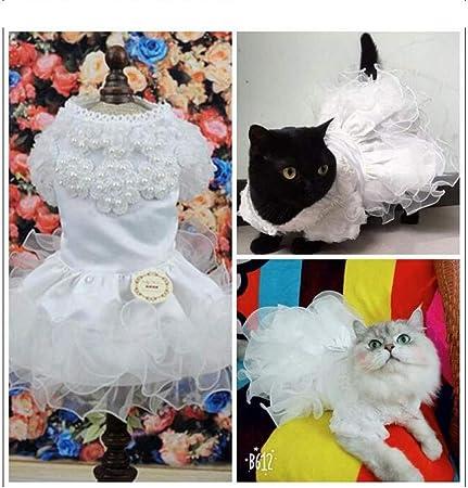 liangh Traje De Gato,Vestido De Caballero,Mascotas Vestidos De Princesa para Bodas De Gatos,Traje De Navidad para Año Nuevo con Ropa De Cola Golondrina,F-L: Amazon.es: Hogar