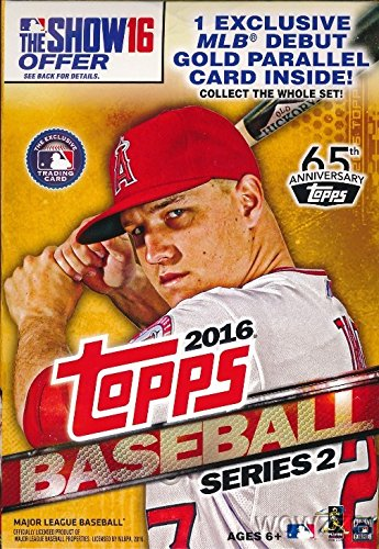 2016 Topps Series 2 Baseball EXCLUSIVE Hanger Case with EIGHT(8) Factory Sealed Hanger Boxes! Total of 576 Card! Loaded with Cool Inserts,Parallels & New Rookie Cards & Special MLB Debut - Series Case Sealed 2 Factory