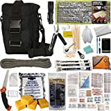 PREPPER'S FAVORITE: Emergency Get Home Bag with First Aid Kit, Water Filter, Food, Fire, Tools and Shelter. Ideal Compact Bug Out Bag, Earthquake Kit, EDC or 72 Hr Kit. Tactical Shoulder Bag Model