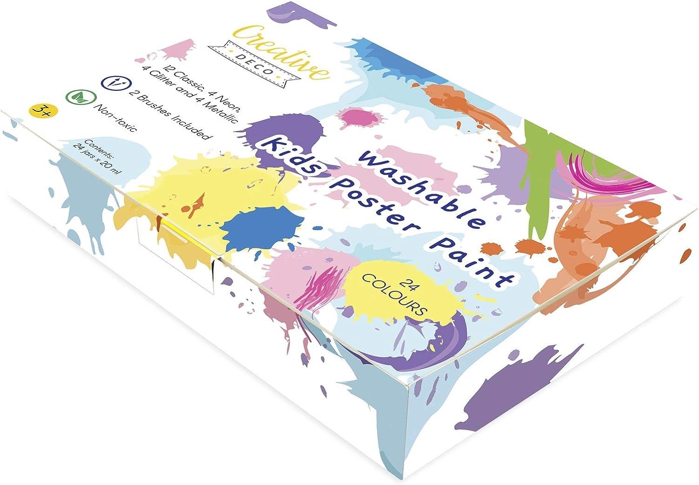 COMVIP /Éventail de Papier Peinture DIY Artistique Cadeaux D/écoration Enfant Orange