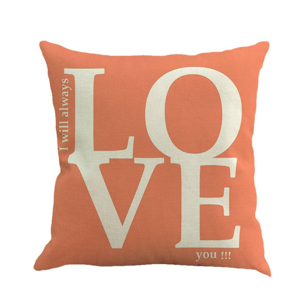 Quistal Throw Pillow Cover Case for Couch Sofa Home Sweet Love Square Cushion Cover 18 X 18 Inches A Happy Valentines Day
