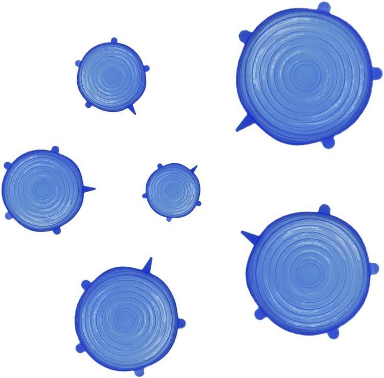 bol et verre Coque en silicone stretch couvercles Lot de 6/housses de rangement r/éutilisable clair Diff/érentes tailles pour r/écipient