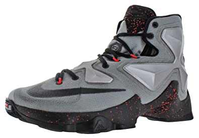 f8c98b1bb505 Image Unavailable. Image not available for. Color  Nike Men s Lebron XIII  Metallic Silver Energy Hyper Jade Black Basketball Shoe -