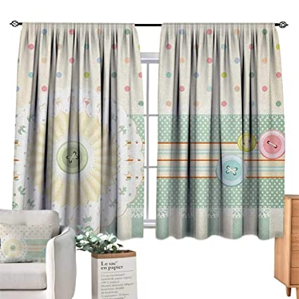 Amazon.com: familytaste Shabby Chic, Kitchen Curtains Sewing ...