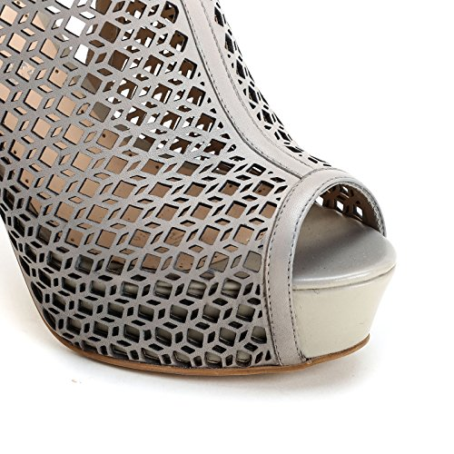 cm Alesya Sandali laserature amp;Scarpe con Tacco Scarpe in Beige con Pelle 12 Alti PqPZwRAr1