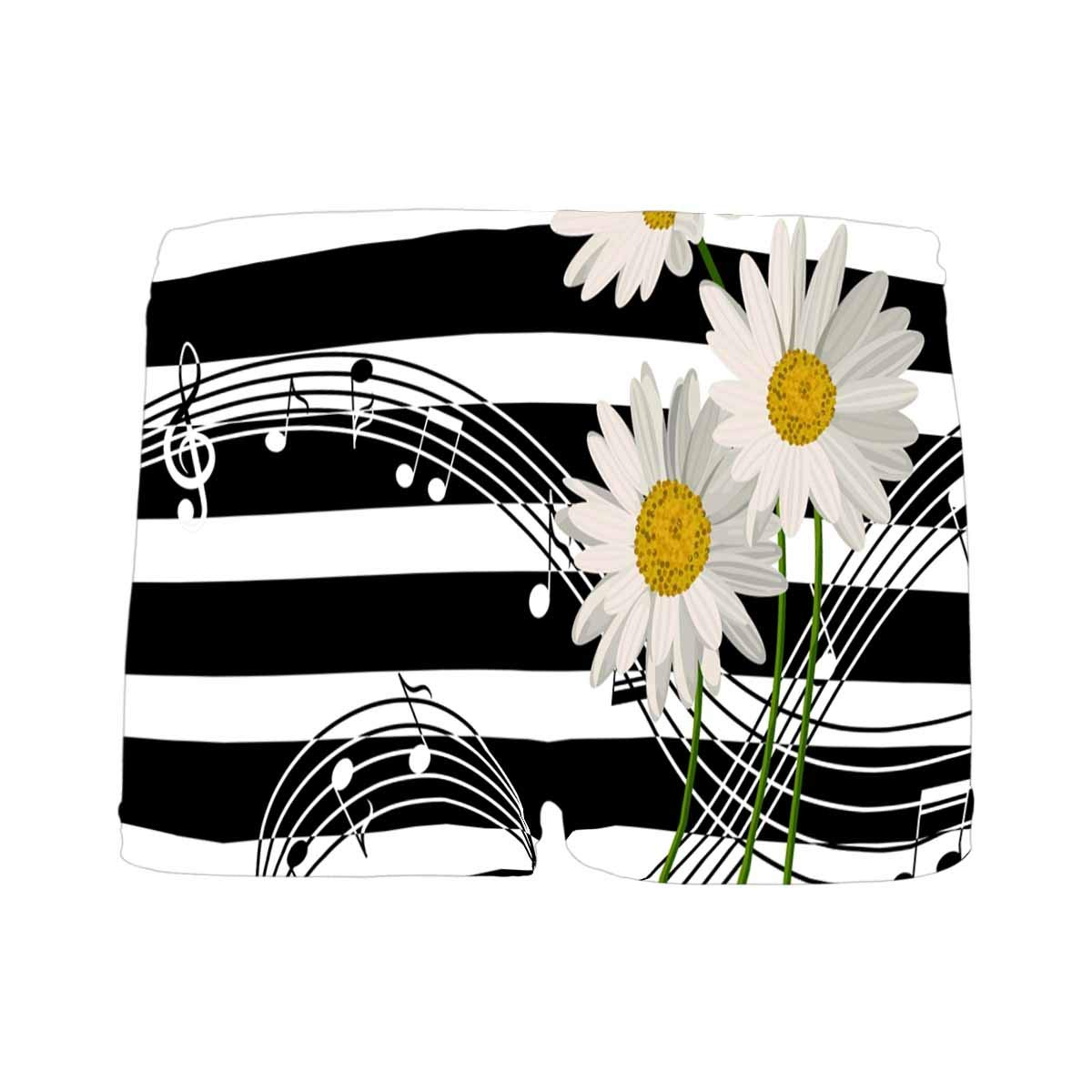 INTERESTPRINT Boys Music Notes and Daisies Flowers ComfortSoft Printed Boxer Briefs 5T-2XL