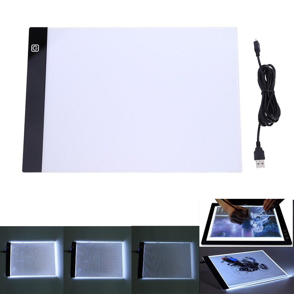 A4 LED Light Box Drawing Board - BESTGIFT Tracing Board USB Power Ultra-Thin Digital Tablet Brightness Adjustable Pad Copy Table for Artist by BESTT (Image #1)