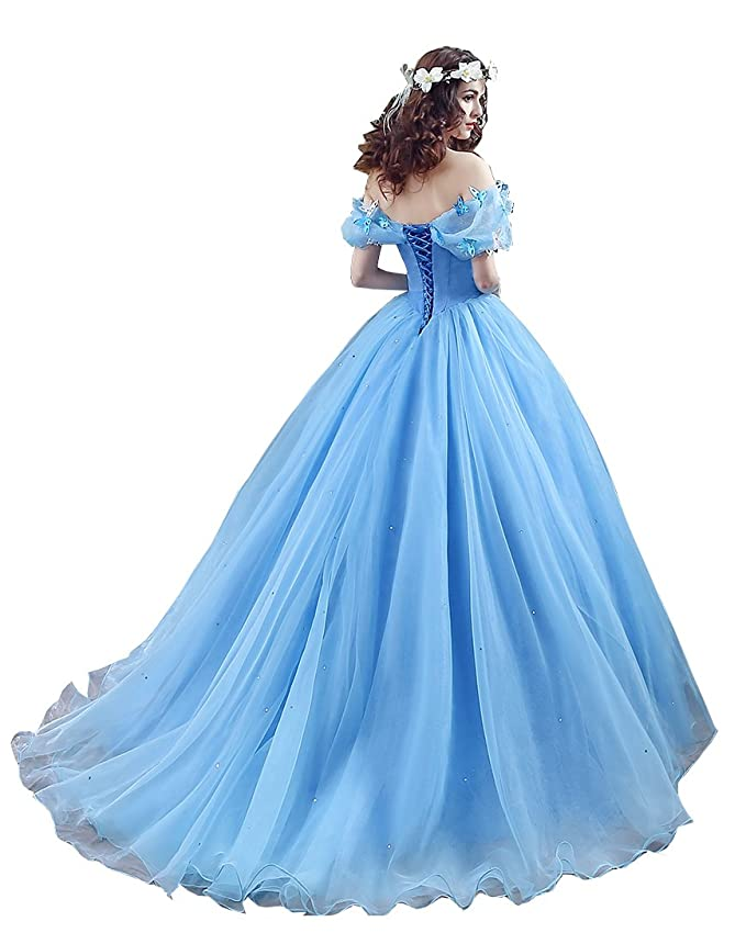 Amazon.com: Datangep Women\'s Lace up Ball Gown Long Quinceanera ...
