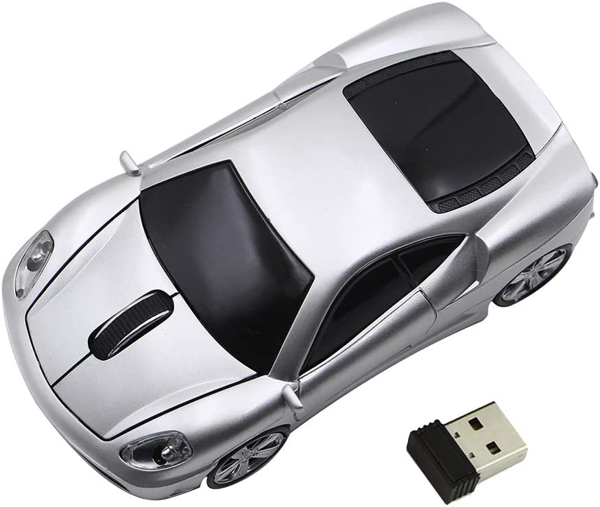 Ai5G for Ferrari Car Mouse Wireless Sports Car Mouse Computer Mice 2.4GHz 1600dpi Optical Gaming Mice (Silver)