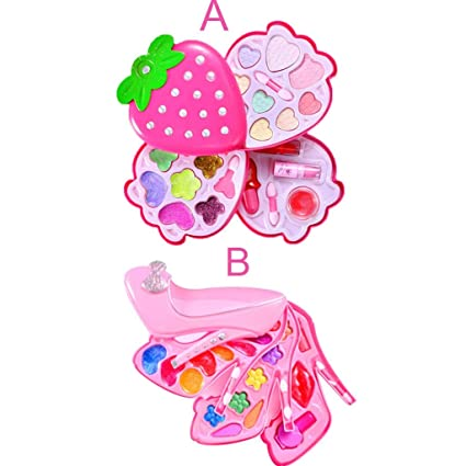 Amazon.com: LtrottedJ Little Girls Pretend Makeup Kit Cosmetic Pretend Toys Children Best Gift Toy Set (A): Toys & Games