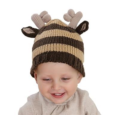 Bonnet Tricot Enfant Bébé Chapeau Elfe Wapiti Automne Hiver Costume  Accessoires Noël 66b4ab58ba7