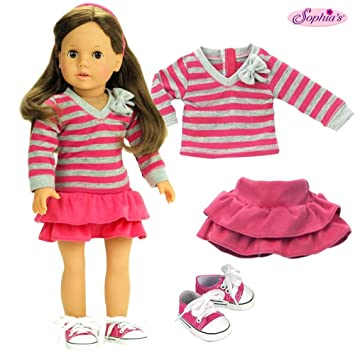 "Doll Clothes 18/"" Sneakers Hot Pink Sophia/'s Fits American Girl Dolls"