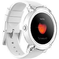 Ticwatch Reloj Inteligente Smart Watch Pantalla Táctil de OLED 1.4 Pulgada Compatible con iOS y Android Sistema Android Wear 2.0 Lleva Una Vida Organizada Color Blanco