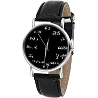 LYMFHCH Math Formula Equation Dial Unisex Leather Quartz Watch - Black (Black)