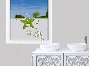 Grazdesign Glasfolie Bad Sichtschutzfolie Fenster Badezimmer