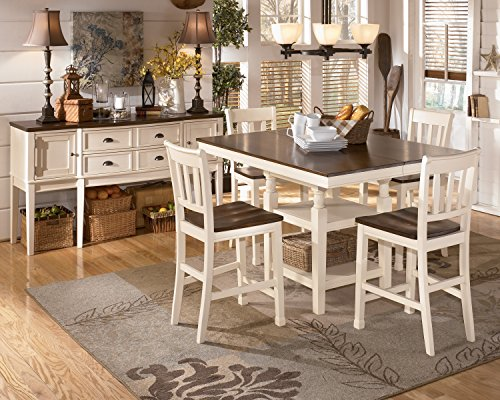 Signature Design by Ashley Whitesburg Casual Dining Room Set with Dining Table and 4 x Dining Chair