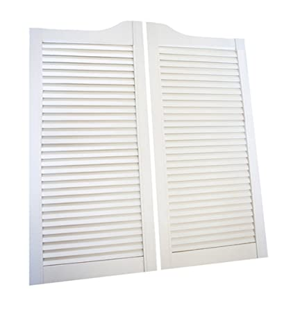 cafe doors by cafe doors emporium pine finished white louvered cafe doors prefit for