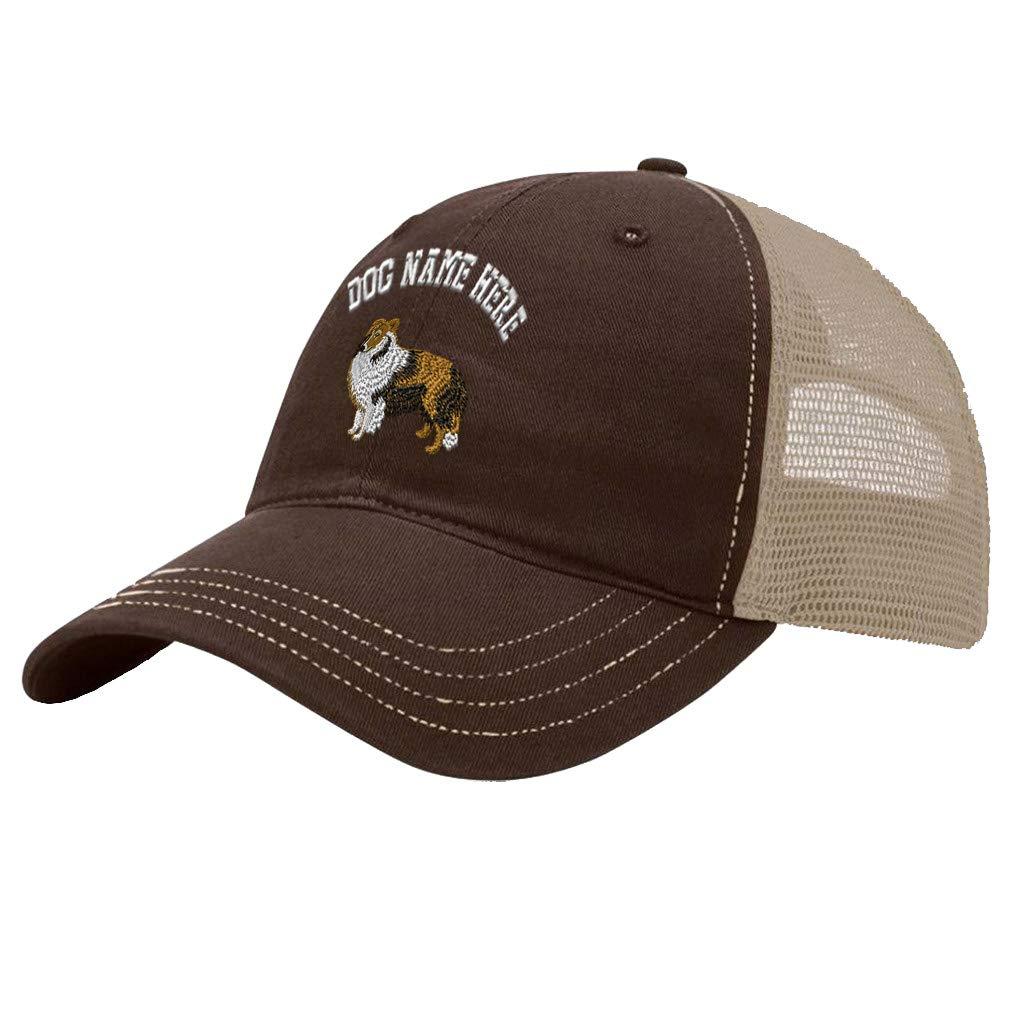 Custom Trucker Hat Richardson Shetland Sheep Embroidery Dog Name Cotton Snaps