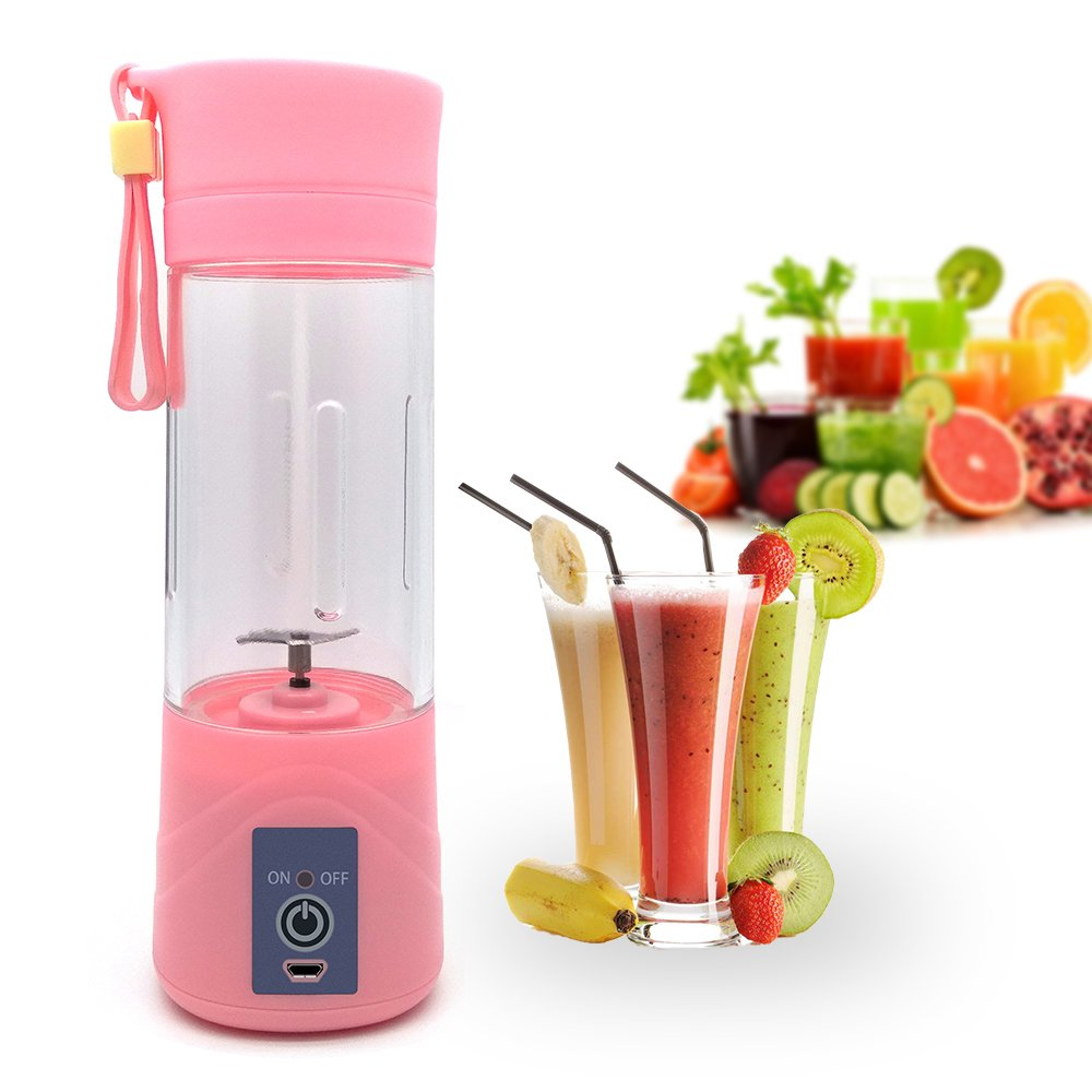 atongm Juicer Cup,Orange Lemon Citrus Fruit Mixing Machine, Portable Personal Size Usb Electric Rechargeable Mixer, Blender, Water Bottle(Green)