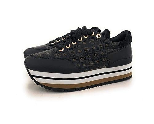 Pollini Sneakers Donna TAPIRO + Vitello Nero TA15013 217
