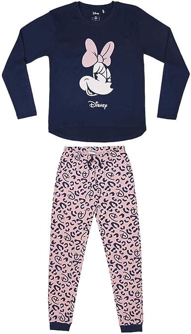 Cerdá - Pijama Minnie Mouse Mujer de Leopardo - Licencia ...