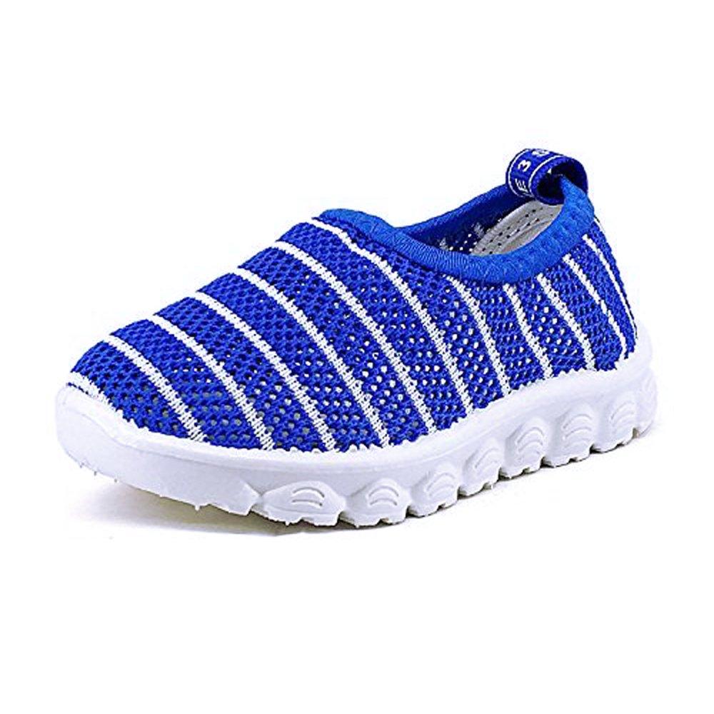 Antheron Kids Water Shoes Boys Girls Breathable Slip-On Summer Pool Beach Mesh Sneakers (Toddler/Little Kid) Blue,26