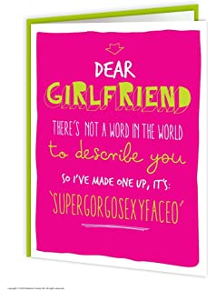 Amazon second nature girlfriend birthday cards poetry in motion brainbox candy funny humorous girlfriend supergorgosexyfaceo birthday greetings card m4hsunfo