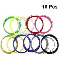 Garneck 10 Piezas de Raqueta de Bádminton Cuerda Duradera de Alta Elasticidad Línea de Raqueta de Tenis Hilo de Repuesto para Gimnasio Entrenamiento Deportivo 10 M (Color Aleatorio)