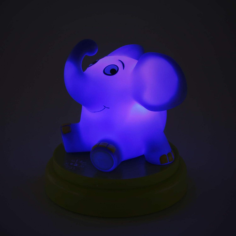 Ansmann Veilleuse Lumineuse LED B/éb/é//Enfant en Forme de Petit /Él/éphant