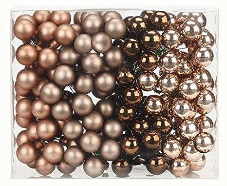 144 Spiegelbeeren 20mm grau Mix Glaskugeln Mini Weihnachtskugeln Urban Graphic