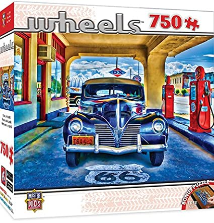 MasterPieces wheels Collection Kicks on Route 66 Jigsaw Puzzle, 1000-Piece