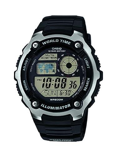 f549034e75de Casio Reloj Digital para Hombre de Cuarzo con Correa en Resina  AE-2100W-1AVEF  Amazon.es  Relojes