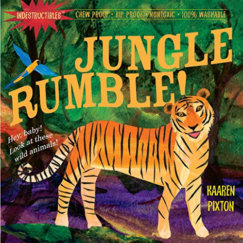 Indestructibles: Jungle Rumble!: Chew Proof · Rip Proof · Nontoxic · 100% Washable (Book for Babies, Newborn Books, Safe to Chew) Paperback – Picture Book, August 5, 2010