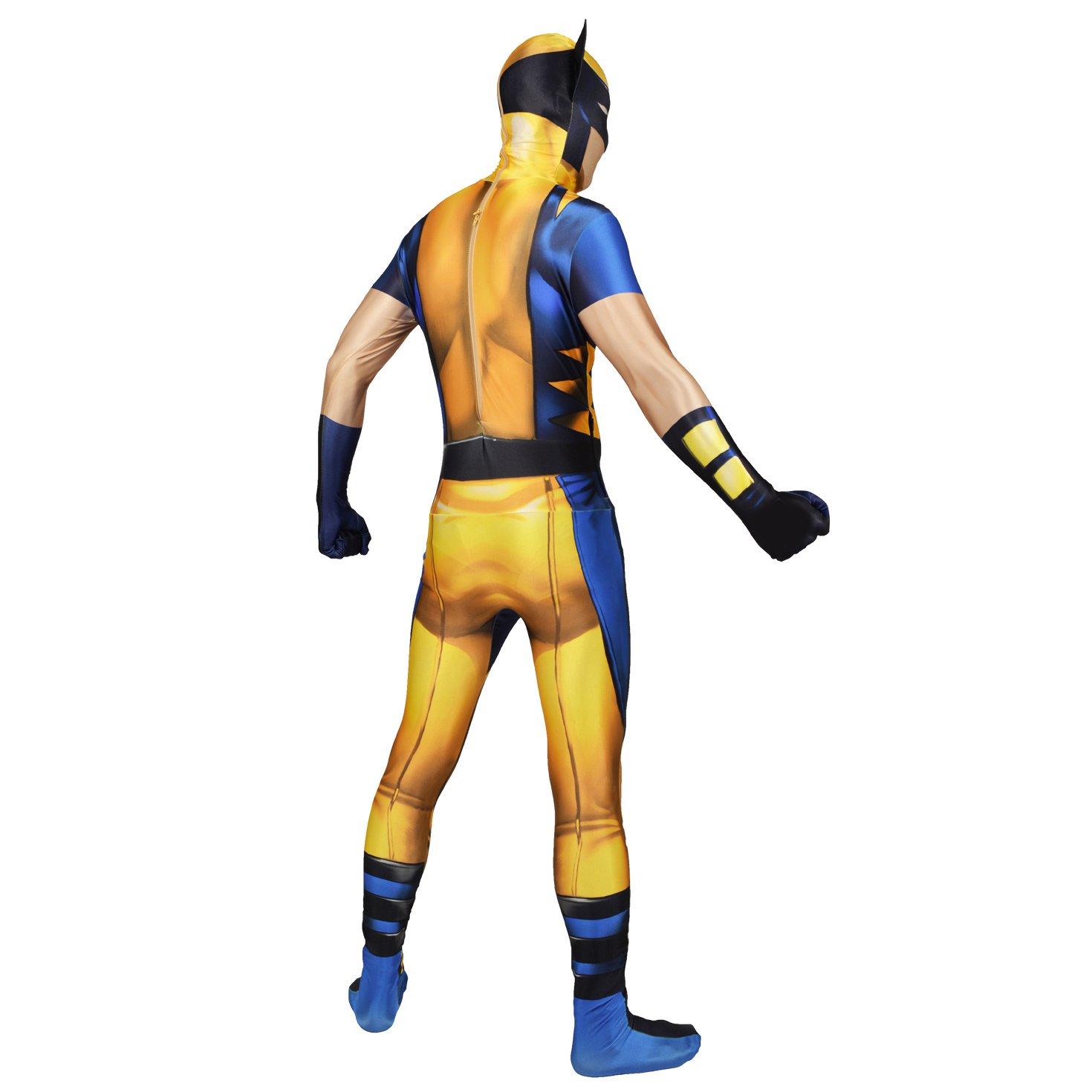 Morphsuits - Disfraz Wolverine, Multicolor, talla XXL (186cm-206cm)
