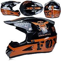 LYLN Niños Motocross Casco Y Guantes Niños Dirt Bike ATV Quad Moto Casco Quad Bike ATV Go Karting Helmet