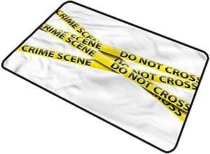 DESPKON-HOME Murder Scene, Pet Mat Restriction Barrier Entrance Door Mat Decorative Script Welcome Design 24x36 Inch