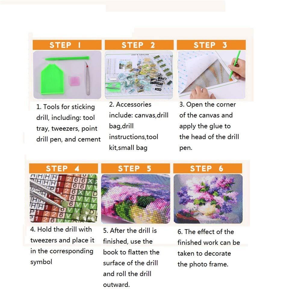 5D DIY Full Diamond Painting, de by Number Kits Crafts & Costura de punto de Painting, cruz, pegatinas de pared para la sala de estar decoración cuadrado Diamond Flower Bird 40  50 cm ea5d01