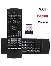 REDGO Air Mouse, 2.4G Backlit Backlight Remote Control, Mini Wireless Keyboard & infrared Remote Control Learning,With 3-Gyro and 3-Gsensor, Best For Android Smart TV Box HTPC IPTV PC Pad XBOX Windows iOS MAC