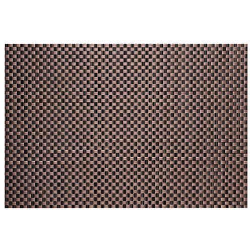 Top Finel Table Mats Sets Crossweave PVC Washable Stain Resistant Durable Dining Table Outdoor,Brown,Set of 8 by Top Finel (Image #1)'