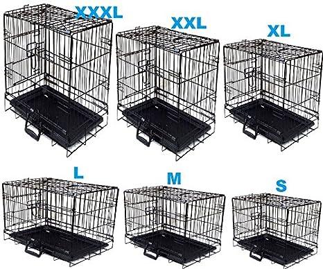 Jaula plegable Petzone para perros, cachorros, gatos y conejos de ...